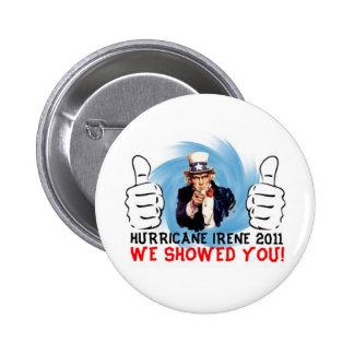 Uncle Sam Hurricane Irene 2011 Survivor Button