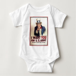 Uncle Sam - I Want You Baby Bodysuit