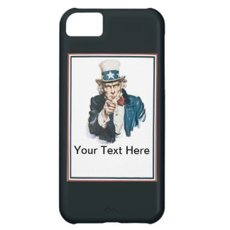 Uncle Sam I Want You Customize Your Text Here Cover For iPhone 5C