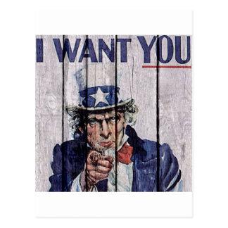 "Uncle Sam ""I Want you"" Postcard"
