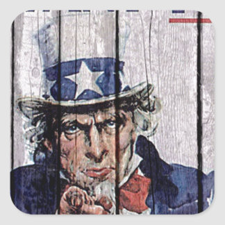 "Uncle Sam ""I Want you"" Square Sticker"