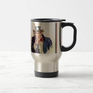 Uncle Sam - I Want You Travel Mug