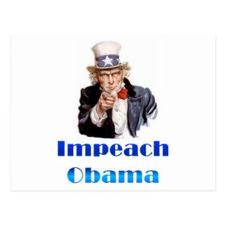 Uncle Sam Impeach Obama Postcard