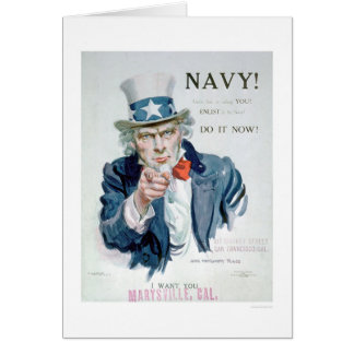 Uncle Sam is Calling You!  Enlist Navy (US02148B) Greeting Card