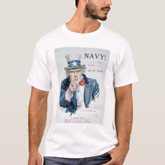 Uncle Sam is Calling You!  Enlist Navy (US02148B) T-Shirt