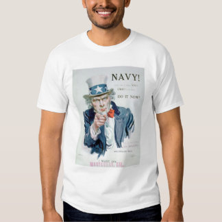 Uncle Sam is Calling You!  Enlist Navy (US02148B) T Shirts