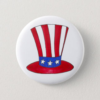 Uncle Sam July 4th USA Patriotic American Button