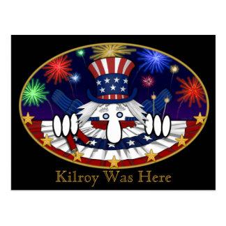 Uncle Sam Kilroy Postcard 2