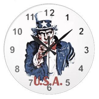 Uncle Sam Large Clock