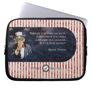 Uncle Sam - Mark Twain Laptop Computer Sleeves