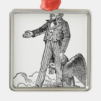 Uncle Sam Metal Ornament