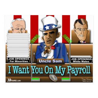 Uncle Sam Obama Postcard