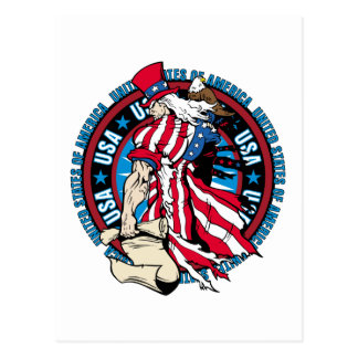 Uncle Sam Patriotic U.S.A. Flag 4th of July Postcard