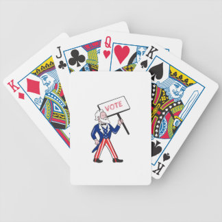 Uncle Sam Placard Vote Standing Cartoon Bicycle Playing Cards