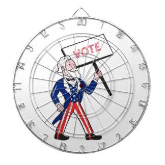 Uncle Sam Placard Vote Standing Cartoon Dartboard