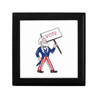 Uncle Sam Placard Vote Standing Cartoon Gift Box