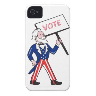 Uncle Sam Placard Vote Standing Cartoon iPhone 4 Cases