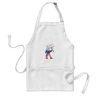 Uncle Sam Placard Vote Standing Cartoon Standard Apron