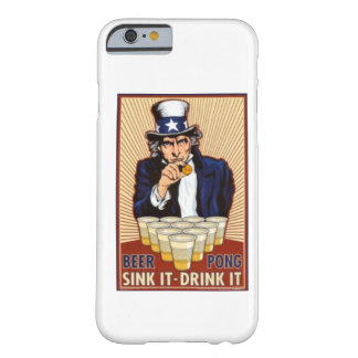 uncle Sam playing beer pong iPhone 6 case Barely There iPhone 6 Case