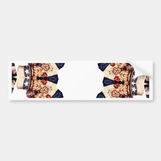 Uncle Sam Pointing Finger Kaleidoscope Bumper Sticker
