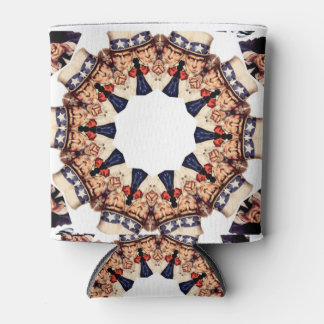 Uncle Sam Pointing Finger Kaleidoscope Can Cooler