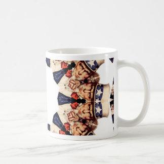 Uncle Sam Pointing Finger Kaleidoscope Coffee Mug