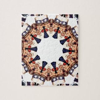 Uncle Sam Pointing Finger Kaleidoscope Jigsaw Puzzle