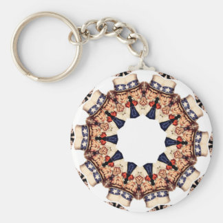 Uncle Sam Pointing Finger Kaleidoscope Key Ring