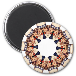 Uncle Sam Pointing Finger Kaleidoscope Magnet