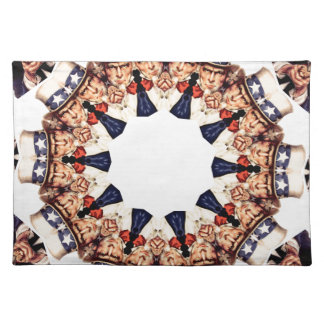 Uncle Sam Pointing Finger Kaleidoscope Placemat