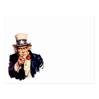 Uncle Sam Pointing His Finger Postcard