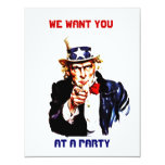 UNCLE SAM POINTING PARTY INVITATION ~EZ2 CUSTOMIZE