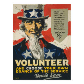 Uncle Sam Postcard with Motive from WWII