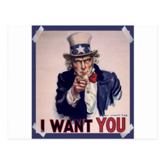 Uncle Sam Poster High Quality Postcards