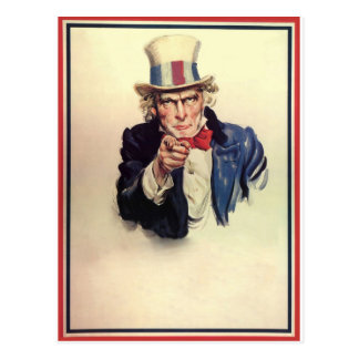 Uncle Sam Poster Template Postcard