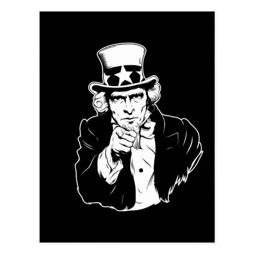 Uncle Sam Propaganda Portrait Postcard