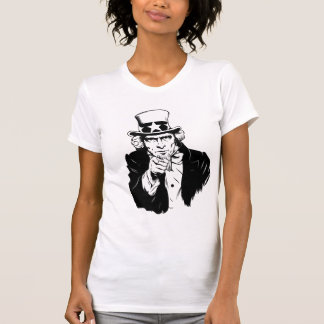 Uncle Sam Propaganda Portrait T Shirt