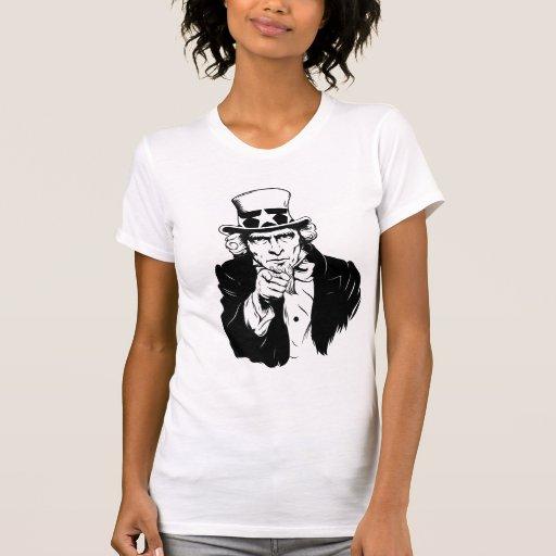 Uncle Sam Propaganda Portrait T-shirt
