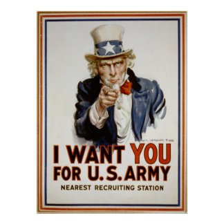 Uncle Sam Recruitment Poster