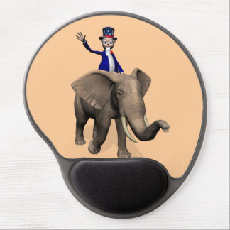 Uncle Sam Riding On Elephant Gel Mouse Pad