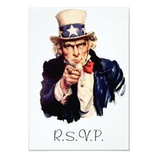 Uncle Sam RSVP Card