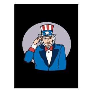 Uncle Sam Salutes You Postcard