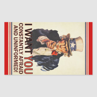 Uncle Sam Satire Sticker Set