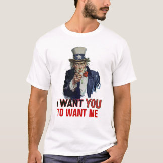 """Uncle Sam Says, """"Your Personal Message"""" T-Shirt"""