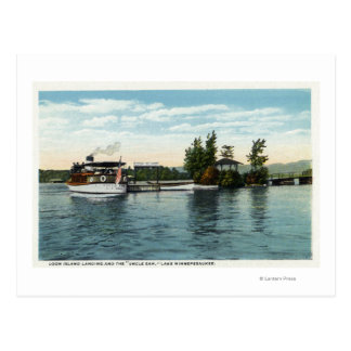 Uncle Sam Steamer at the Loon Island Landing Postcard