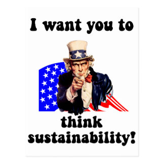 uncle sam sustainability post card