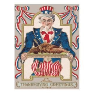 Uncle Sam Thanksgiving Turkey Postcard