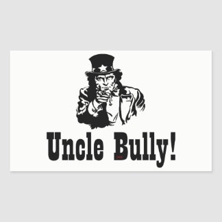 UNCLE SAM THE BULLY RECTANGULAR STICKER