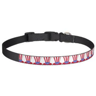 Uncle Sam Top Hat Patriotic American Flag USA Pet Collar