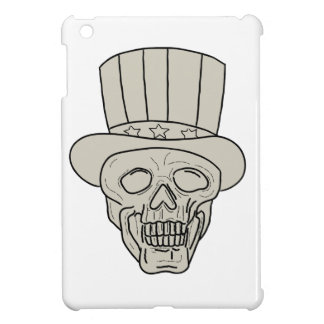 Uncle Sam Top Hat Skull Drawing Case For The iPad Mini